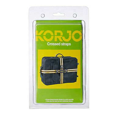 KORJO Crossed Luggage Straps 180cm and 250cm Long LSX97