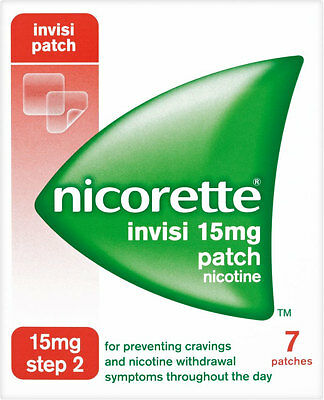 Nicorette Nicotine 15mg Invisible Patches Step 2 (7)