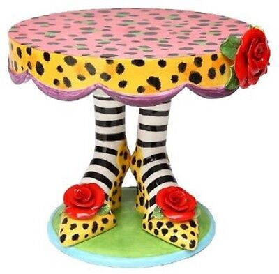 Appletree 10.5 Inch Multicolored Leopard Print High Heels Design Cake Stand