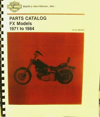 1971-1984   Harley-Davidson Parts Catalog  FX  Models  278 PGS  #99455-83C