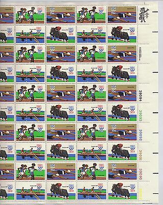 USA-United States 1979 15c Postage Olympic Games 1980 Sheet Scot 1791-4 MNH