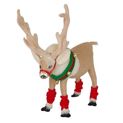 "Christmas CARIBOU 8"" Reindeer Poseable Figure Decoration Annalee Frozen Animal"