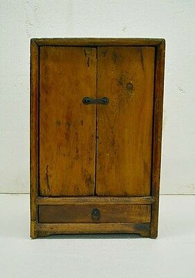 Northeast China Antique Natural Wood Small Side Table Cabinet w/Drawer NO03-03