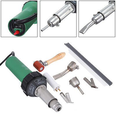 1500W Hot Air Torch Plastic Welding Welder Gun Pistol Speed Nozzle Roller Set