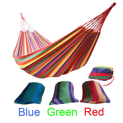 Double size Cotton Fabric Hammock Air Chair Hanging Swinging Camping 280*150CM