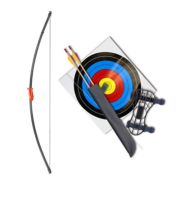 Red Recurve Junior Youth Bow Set/ Longbow Kit - 44""