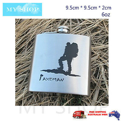 6oz Stainless steel Whisky Alcohol Hip Flask Engravable Bottle-Curved designed