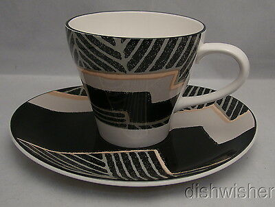 Sango DIMENSION BLACK 267043 Cup & Saucer