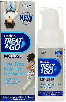Hedrin Treat & Go Mousse for Headlice - 100ml Skin Friendly