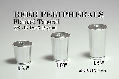 NEW! 5 Pack Beer Tap Handle Ferrule - Flanged Tapered NEW!