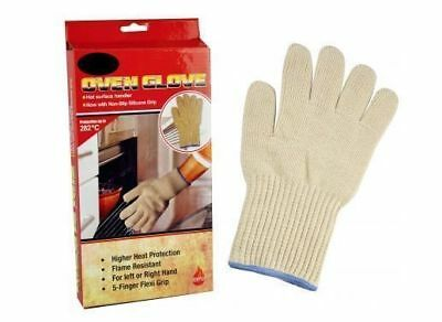 2x OVEN GLOVE Kitchen Mitt Heat Gloves Heat Insulated Hot Oven Surface Handler