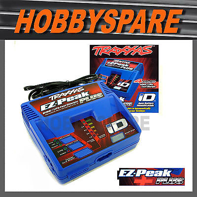 NEW TRAXXAS EZ PEAK PLUS 4A NIMH LIPO 2s 3s BATTERY CHARGER AUTO iD & PROGRAM