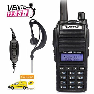 Baofeng UV-82 Double Bande VHF/UHF 137-174/400-520MHz Radio + Dual Écouteur FR