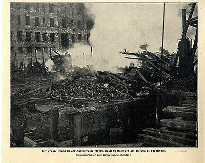 Der grosse Brand in der Hafenstrassebei St.Pauli in Hamburg am 28.u.29.9.1900