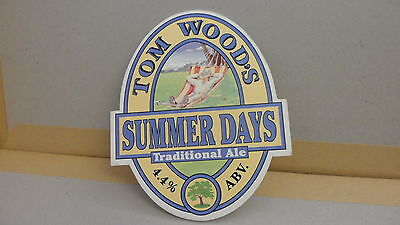 Tom Woods Summer Days Traditional Ale Beer Pump Clip 35