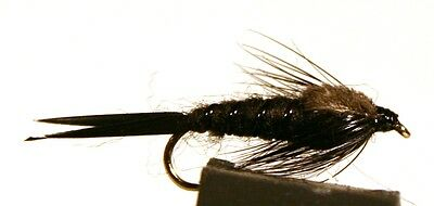 ICE FLIES Nymph. Stone fly Black . (4-pack). Available in size 8 - 16