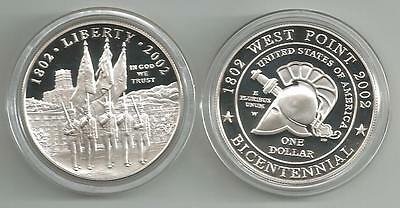 USA: Silber Dollar 2002, Military Academy West Point, Proof, PP
