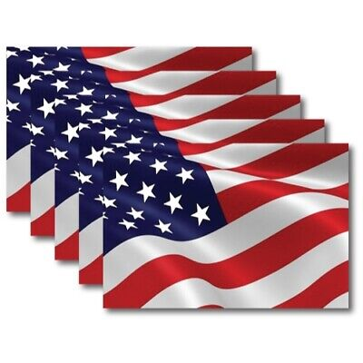 Waving American Flag Magnets 5 Pack 4x6 inch Flag Decals for Car Truck or Fridge