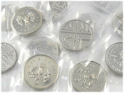 Brilliant Uncirculated Five Pence Coins 5p 1982 - 2019 Various Years Royal Mint