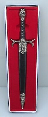New VIKING STYLE SKULL DAGGER Sword  With Sheath BRAND NEW