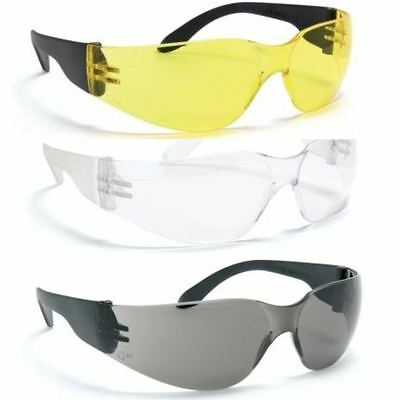 Blackrock 12 Pairs Safety Glasses Specs Work Spectacles Clear Yellow Smoke