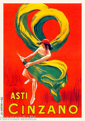 1900's Asti Cinzano Wine Italian Italy Spirits Advertisement Art Poster