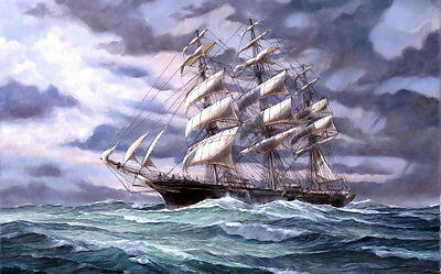 Best gift seascape ship  Oil painting Art Picture Printed on canvas 16x24 P3