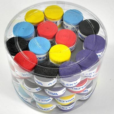 10PCS Absorb-sweat stretchy Tennis Squash Racquet Band Grip Tape Overgrip Y5RG