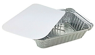 """Handi-Foil 1 1/2 lb. Oblong """"Deep"""" Take-Out Meal Prep Food Container w/Board Lid"""