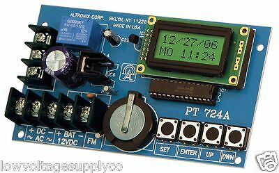 Altronix PT724A  Timer, 365 Day 24 Hour Annual Event, 1 Channel, LCD Display,