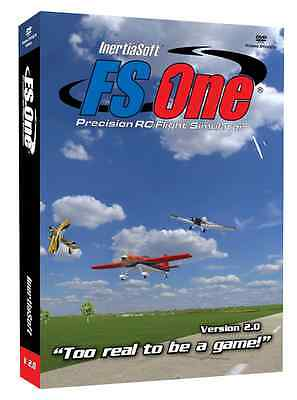 FS One R/C Flight Simulator V2 with Spektrum Dx6i Transmitter Adapter Cable NEW