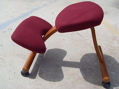 Vintage 1998 Rybo Balans Partner Ergonomic Kneeling Chair Mcm Norway