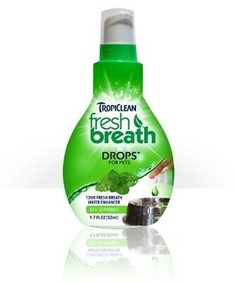 TROPICLEAN FRESH BREATH!~3 DROPS IN WATER BOWL! FOR DOGS & CATS! FREE 1st CLASS