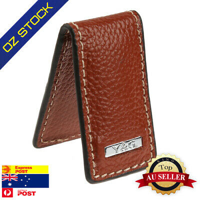 MC3007 Fitted Brown Leather PU Money Clip Husband Birthday Black Line By Y&G