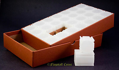 Guardhouse Coin Storage Box PLUS 28 Square Half Dollar CoinSafe Tubes
