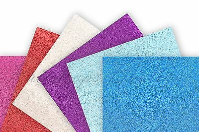 Glitter Fabric panels 24cm x 30cm sheets larger than A4 fine glitter sparkle