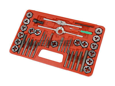 40pc Tap & Die Set Heat Treated Steel Fully Polished Steel M3 to M