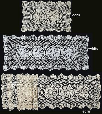 "Handmade Crochet Lace Placemat Table Runner White 14x20"",14x36"", 14x54"",14x72"""