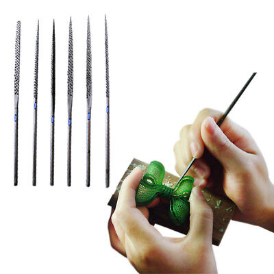 WAX NEEDLE FILE SET 6 Pcs ASSORTED JEWELRY PLASTIC WOOD RASP CLAY  CUTTER TOOL