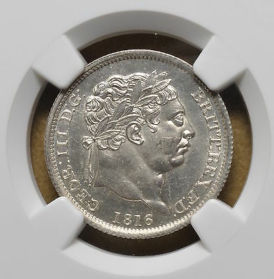 1816 Great Britain Silver Shilling NGC MS64