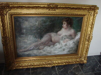 Antique Painting Renaissance Oil Painting, Hand Carved Wood Frame • CAD $1,002.11
