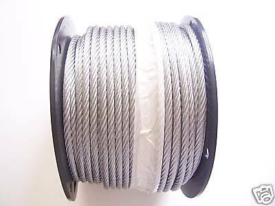 "Galvanized Wire Rope Cable 1/4"", 7x19, 200 ft Reel"