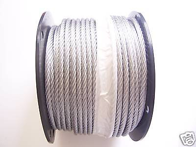 "Galvanized Wire Rope Cable 1/4"", 7x19, 250 ft Reel"