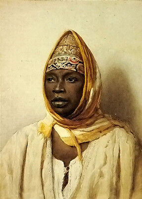 Oil painting frederico bartolini - portrait of an arab woman free shipping cost
