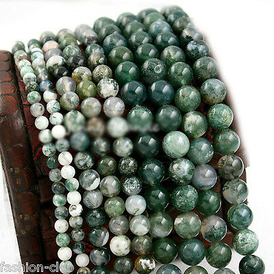 Wholesale Natural Aquatic Agate Round Gemstone Loose Spacer Beads 4/6/8/10/12mm