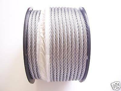 "Galvanized Wire Rope Cable 5/16"", 7x19, 150 ft reel"