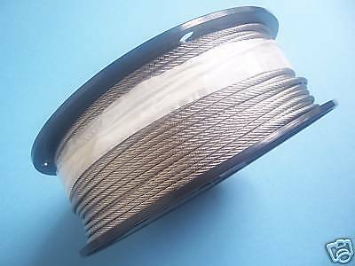 "304 Stainless Steel Wire Rope Cable, 1/8"", 7x7, 1000 ft reel, Made in Korea"