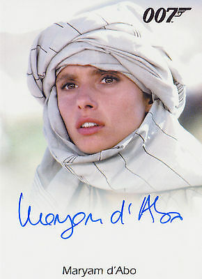 James Bond 2015 Archives Autograph Full Bleed Maryam D'Abo