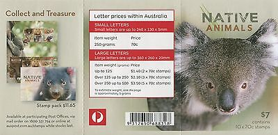 Native Animals 2015 - Mint Unfolded Booklet Of Self-Adhesives (G30)