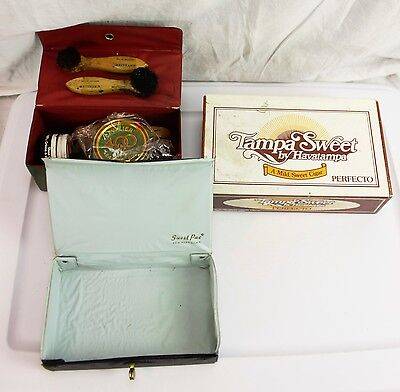 Lot of 3 Vintage Boxes Tampa Sweet Cigar Guest Pac & Cavalier 400 Shoe Shine
